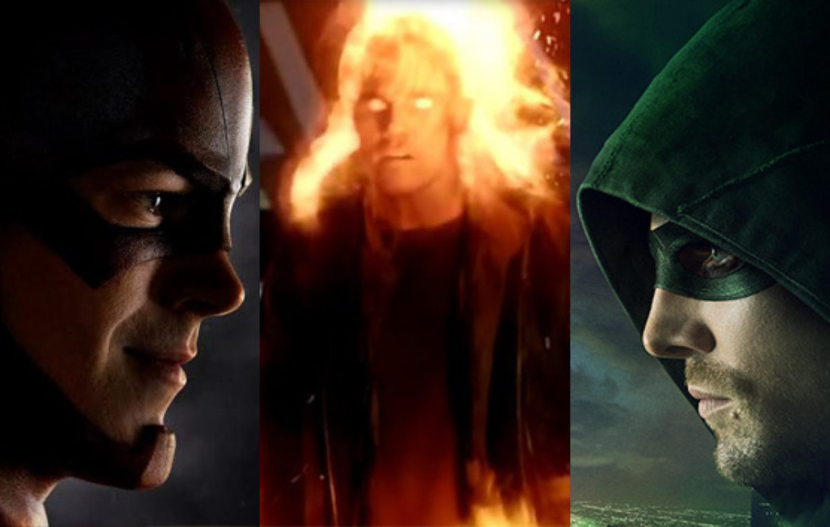 Set Photos Reveal Arrow and Firestorm Team Up with The Flash