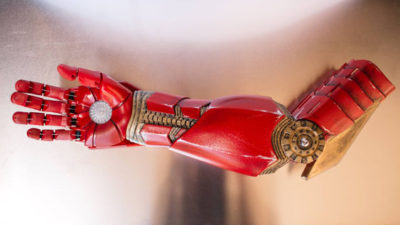 Tony Stark Delivers Iron Man Prosthetic Arm to a Young Boy