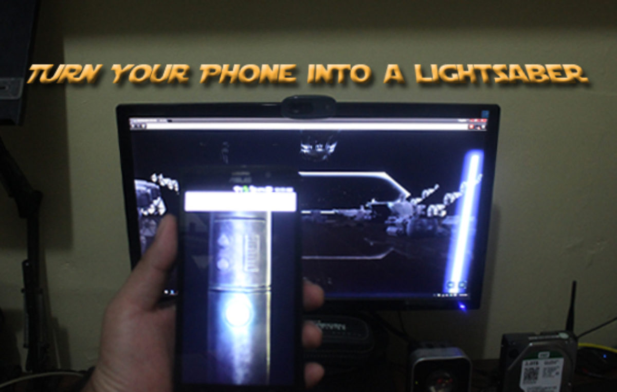 Lightsaber Escape – Turn Your Phone Into a Lightsaber