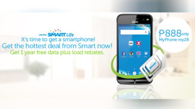 Get a MyPhone my28 with Free Data for 1 Year for Only Php888