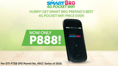 New Php 888 Smart Bro 4G Pocket WiFi that's definitely not #HardToGets