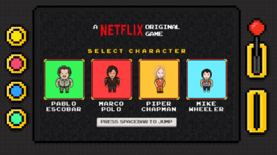 Netflix made an 8-bit Browser Game of their Top Shows
