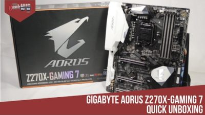 Gigabyte Aorus Z270X Gaming 7 Motherboard Quick Unboxing