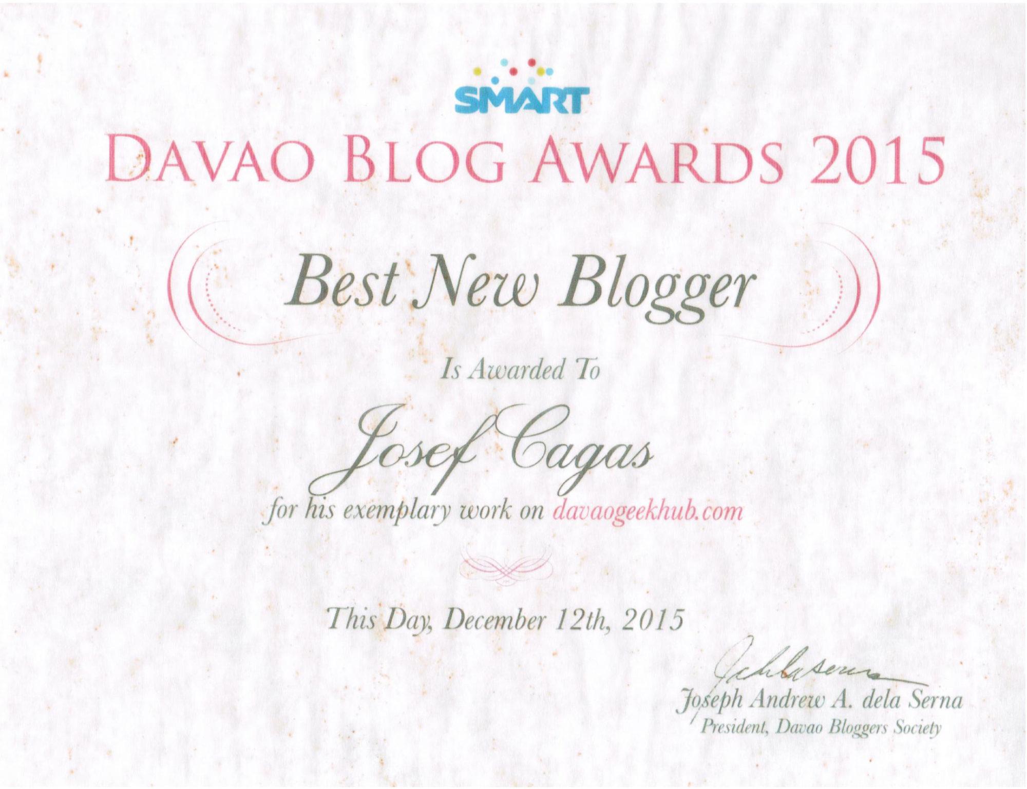 Best New Blogger 2015