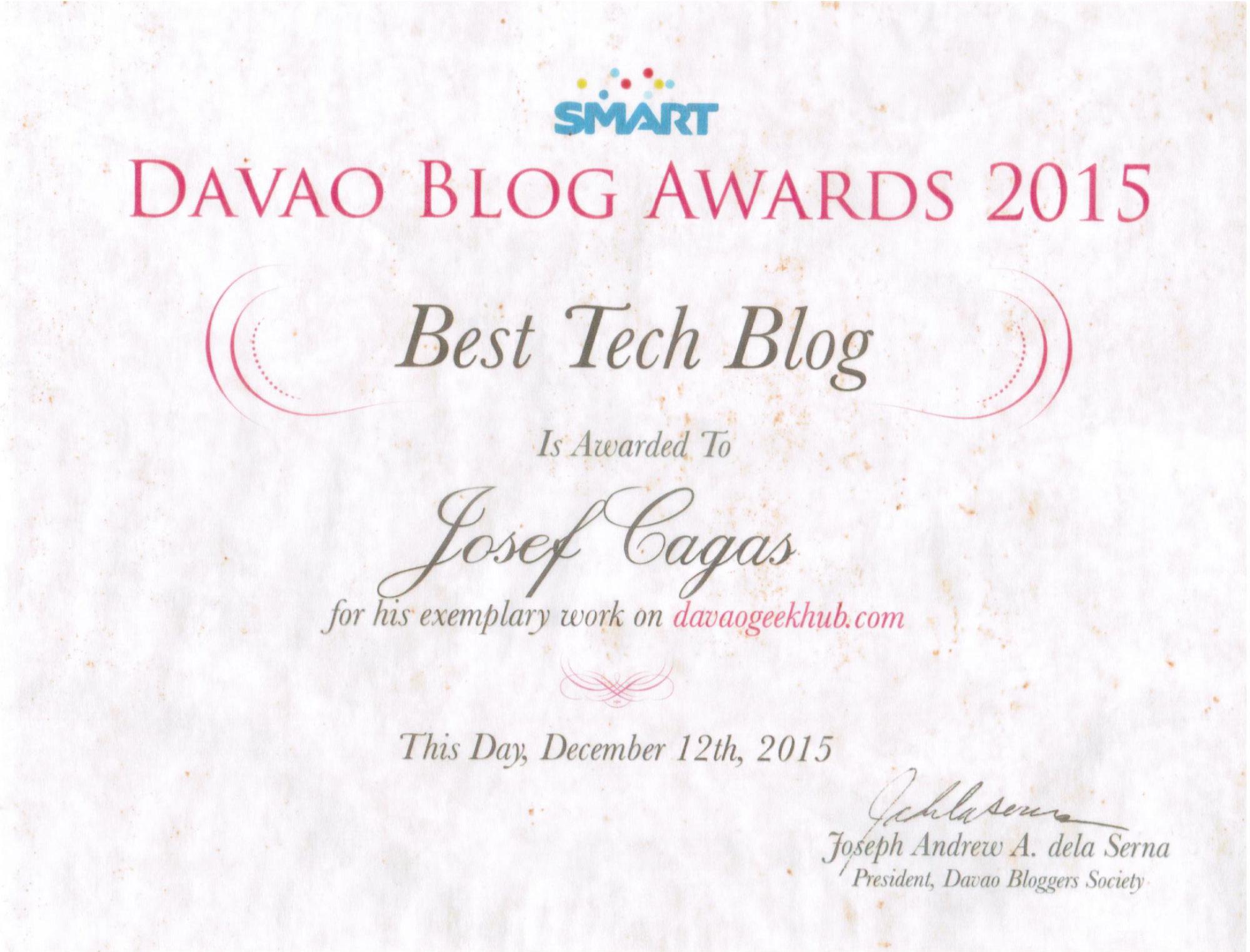 Best Tech Blog 2015