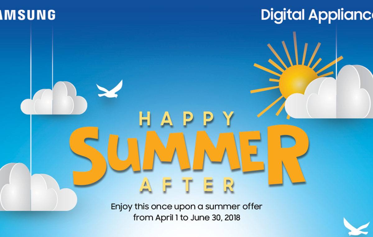Check out these Samsung Digital Appliances' Happy Summer Deals