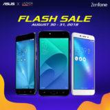 ZenFone x Lazada Flash Sale – ZenFone 4 Selfie Lite, 3 Laser, 3 Zoom